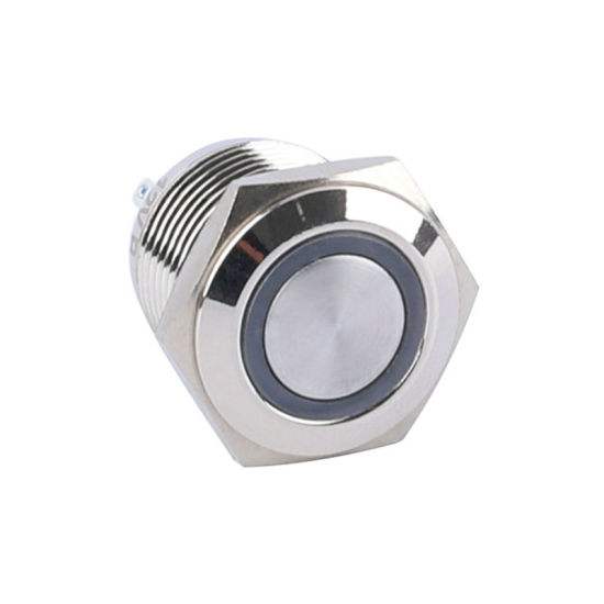 16mm Illuminated Ring LED Push Button Switch with Momentary Waterproof 1no1nc