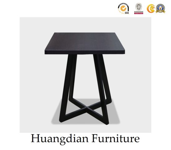 China Black Wooden Small Square Side Table Coffee Table Hd098
