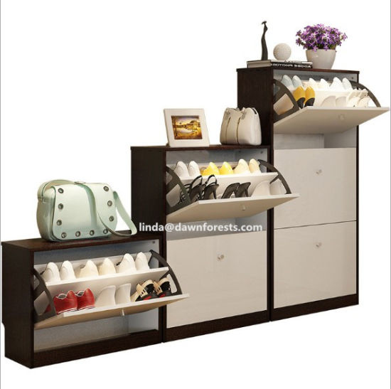 2019s MDF/Pb Core Two Colors Wooden Furniture Shoe Cabinets