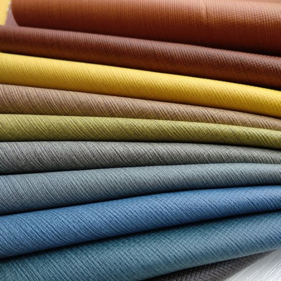 Leather Like Upholstery Fabric for Furniture Sofa Chair -Line pictures & photos