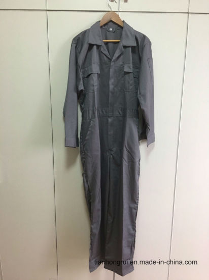 Fr Cotton Polyester 160g Summer Coverall for Worker