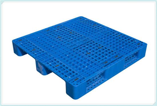 Warehouse Racking Storage Three Runners Custom 1100 X 1100 mm Plastic Pallet