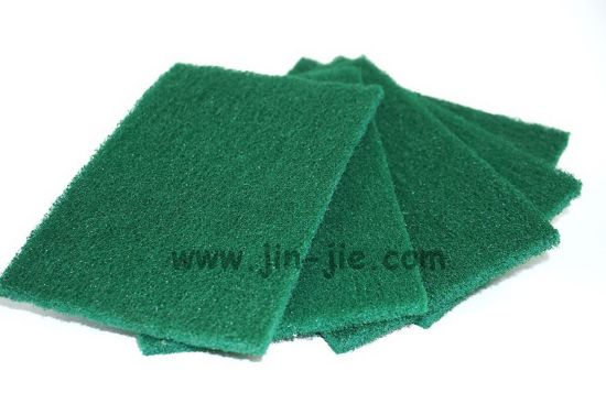 Low Price Cleaning Green Nylon Scrubbing Pad pictures & photos