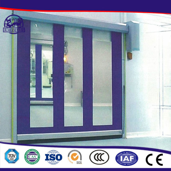 Automatic Industrial PVC Fabric High Speed Fast Rapid Overhead Rolling Shutter Door with Spring pictures & photos
