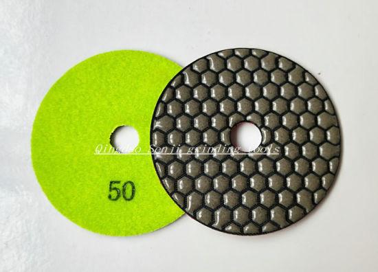 Flexible Dry Diamond Resin Polishing Pad for Granite and Marble