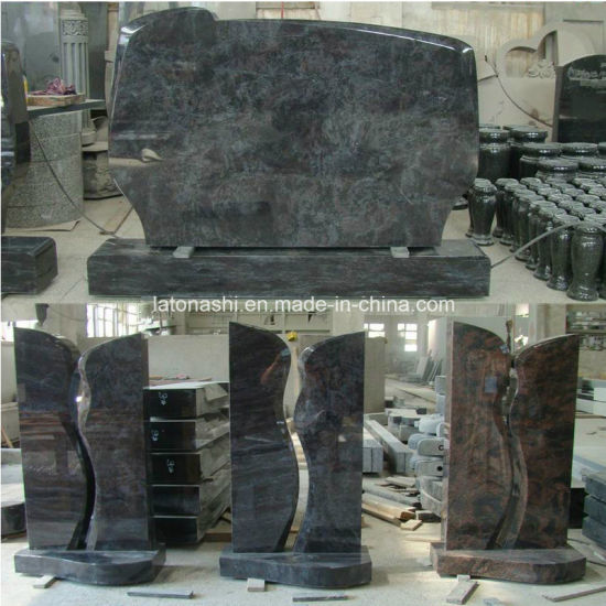 Vizag Blue/Himalaya Blue Granite Monument/Headstone/Tombstone/Gravestone pictures & photos