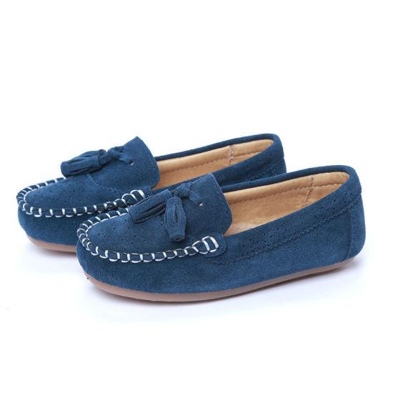 Kids Loafers Moccasin Oxford Driver Shoes Boys School Uniform Shoes