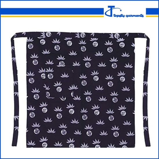 Custom Cotton Short All Over Screen Printing Beautiful Waist Tie Apron pictures & photos