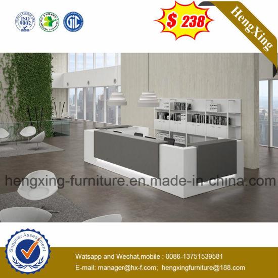 Modern Design Black Color Solid Wood Office Reception Desk (HX 5N253)