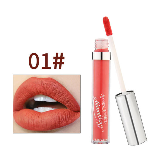 1 PC Women Matte Lipstick Lasting Non-Marking Matte Lip Gloss