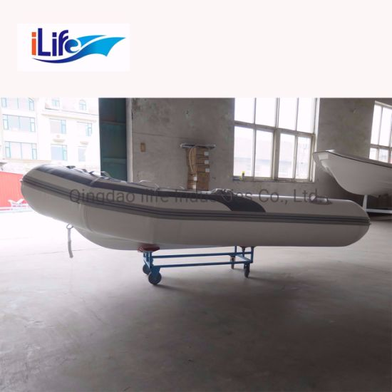 Ilife Factory Wholesale 9.2FT PVC/Hypalon Rigid Hull Firberglass Inflatable Rubber Fishing Sport FRP Boat