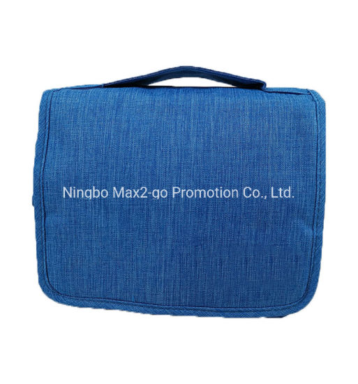 Newest China Factory Waterproof Hanging Travel Toiletry Bag with Zipper