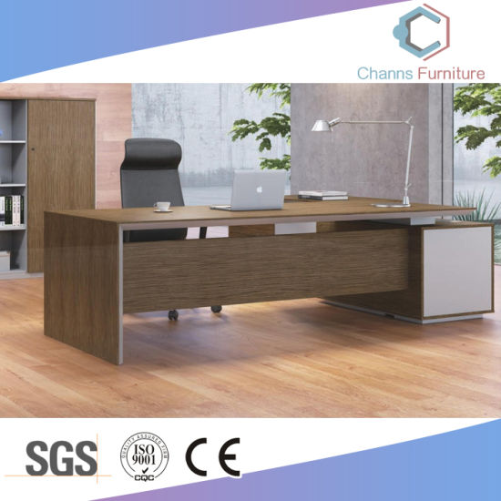 Project Design L Shape Executive Table Wooden Office Furniture (CAS-M1773)