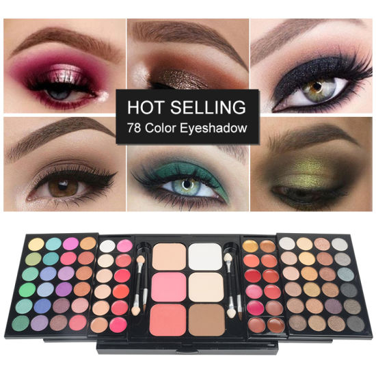 VERONNI 78 Colors Eyeshadow Palette Shimmer maquillaje Wholesale Makeup Glitter Eyeshadow Cosmetics Makeup Set pictures & photos