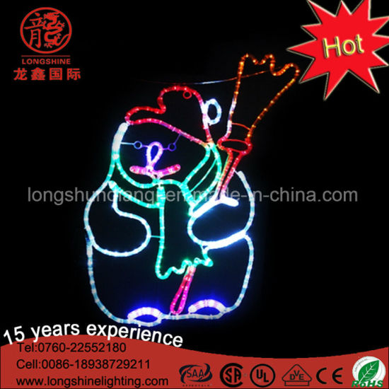 LED 2D Snowman Motif Rope Light with Matal Frame Christmas Lights for Indoor and Outdoor Use pictures & photos