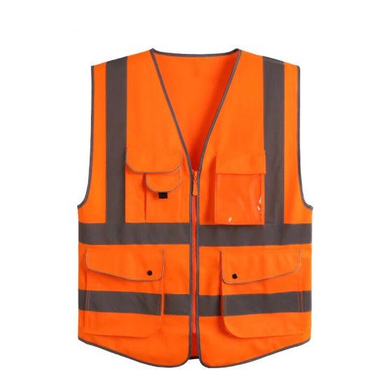 Lime Color Cotton Flame Retardant Maintenance Security Airline Hi-Vis Vest