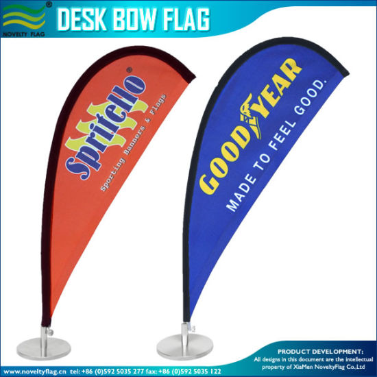 Tear Drop Counter Top Table Flags, Desk Flags (J-NF09M01002) pictures & photos