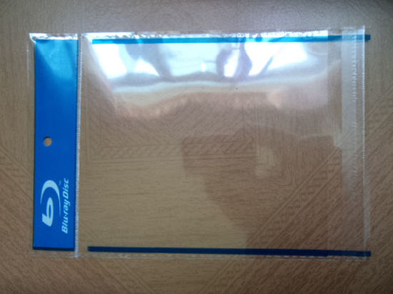 Transparent OPP Bag /OPP Self Adhesive Bag/Clear Plastic Bag with Single Blue Ray Logo