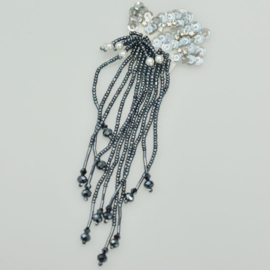Beaded Sequins and Beads Tassel Patches Embellishments