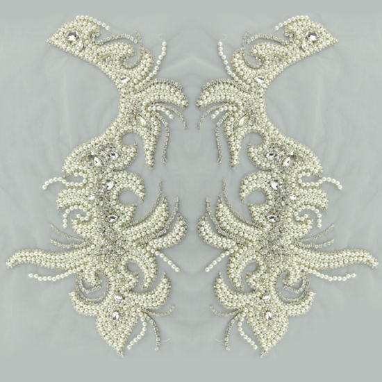 Fashion Handmade Beaded Bodice Wedding Dress Patch Bridal Accessories pictures & photos