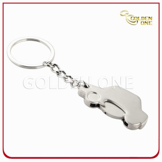 Promotion Car Shape Metal Trolley Coin Key Holder