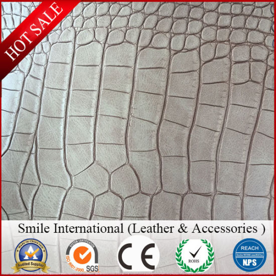 Artificial Leather for Car Seat, Wet-Process Crumpled PU Leather pictures & photos