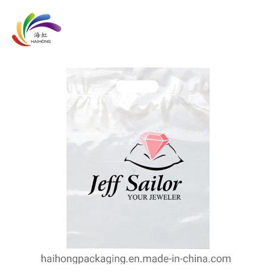 high quality brand new many styles Custom Logo Design Printing Die Cut Handle Bag HDPE Shopping ...