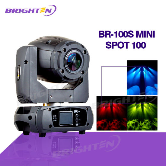 Charming PRO Sound And Stage Lighting Mini LED Spot Moving Head 100W Pictures