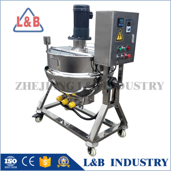 Mobile Stainless Steel Electric Heating Jacketed Cooking Pot