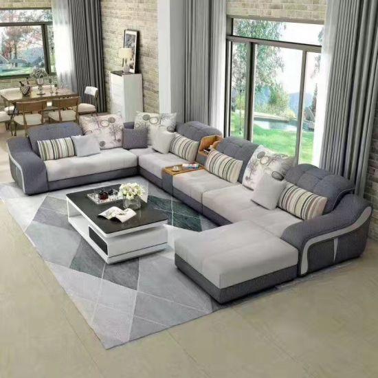 U Shape Modern Fabric Sofa Promotion Price T 01