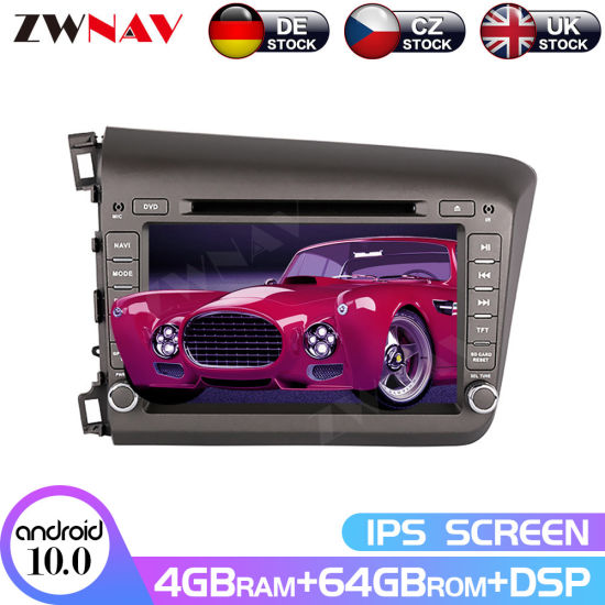 Android Radio DVD Player for Honda Civic 2011+ Car GPS Navigation Multimedia Screen Auto Stereo Head Unit 64GB Px6 Audio Video