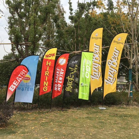 Durable Factory Produced Sports Meeting Aluminum Flag