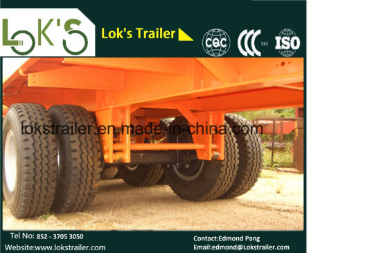 Twin Tyre Flatbed Semi Trailer pictures & photos