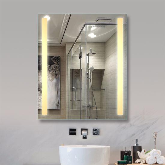 Amazon Hot Sale Smart Home Illuminated Bathroom Wall Mounted IP44 LED Mirror