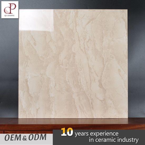 China Venezuela Oman Beige Marble Full Polished Glazed Ceramic Tiles ...
