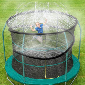 Trampoline Water Play Sprinklers for Kids Summer Cooling Pipe. Water Outdoor Play Sprinkler