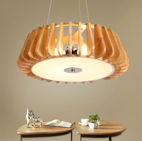 Amazon Hot Sale New Densign Wooden Pendant Lights with Low Price
