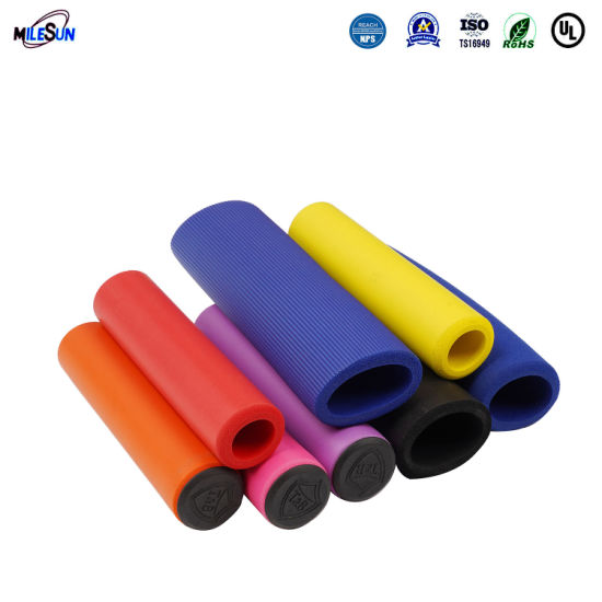 Colorful Silicone Rubber Motorcycle Handle Grip Bicycle Appliance Handle Cover Anti-Slip Handle Sleeve Universal Handle Rubber Cover