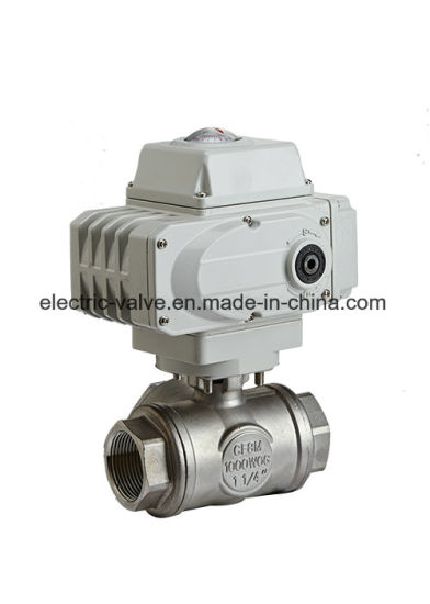 Electric Actuated JIS 150lb Thread Flange Ball Valve pictures & photos