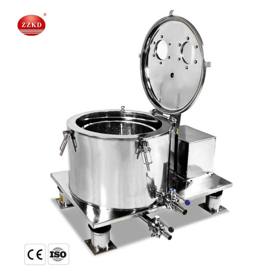 1000r/Min Cbd Lab Low Speed Centrifuge Machine/Ethanol Extraction Hemp Oil Extraction Basket Centrifuge with Jacket for Honey