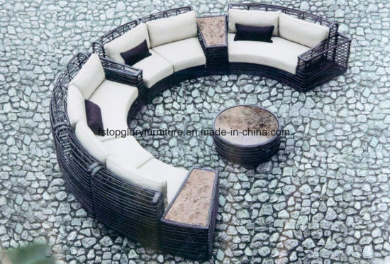 Outdoor Rattan Patio Garden Sunrise Lounge Sofa (TG-021) pictures & photos