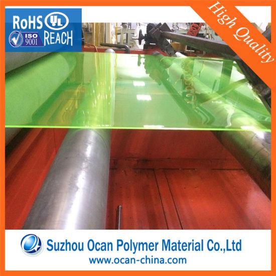 China 1mm Hard Transparent Clear Fluorescent Yellow Pvc Plastic Sheet China Pvc Transparent Sheet Pvc Sheet