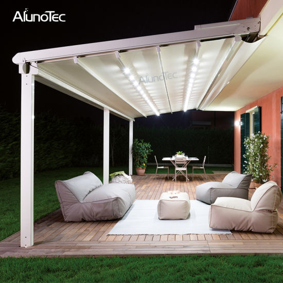 Best Selling Sun Shading Retractable Pergola Waterproof Awning for Backyard