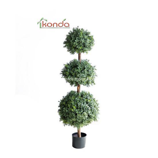 Garden Grass Artificial Buxus Balls Boxwood Topiary Trees Pots Plants