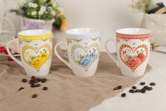 High Quality Promotional Gift Porcelain Coffee Mug Large Ceramic Mug