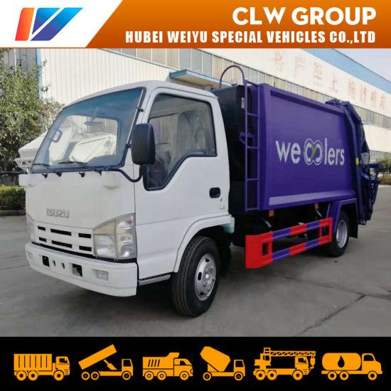 Diesel Fuel Type Rear Loader Garbage Compactor Truck 5cbm Isuzu Mini Refuse Collector