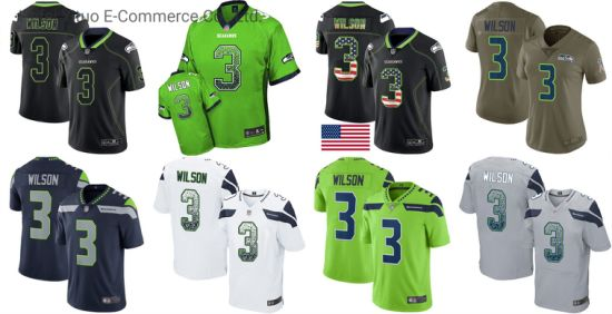 Seahawks Sublimation Printed Nice Color Russell Football Suits with Latest Design