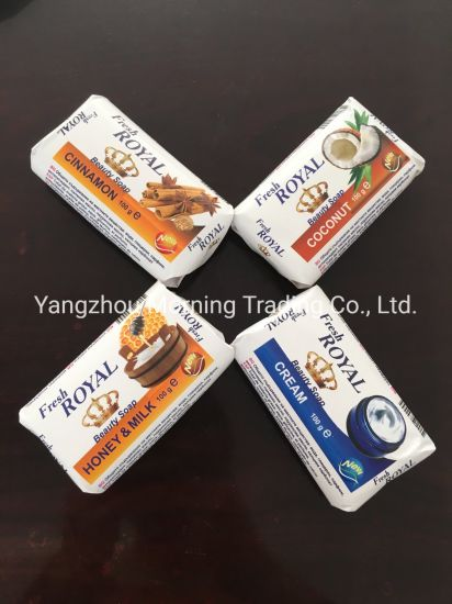 100g Oat Coconut Beauty Soap for Kin Care with Paper Wrapper