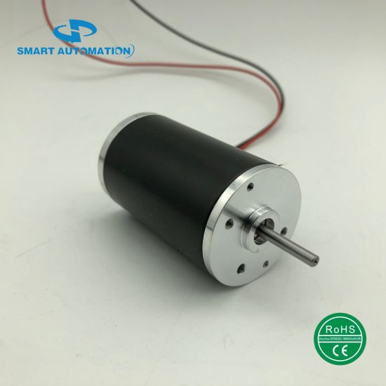 38mm Small Size NdFeB Magnet Pm DC Brushed Motor, Rated 24V 4700rpm 35W
