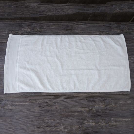 Bleached White 100% Cotton Hand Towels Roll for Gift SPA